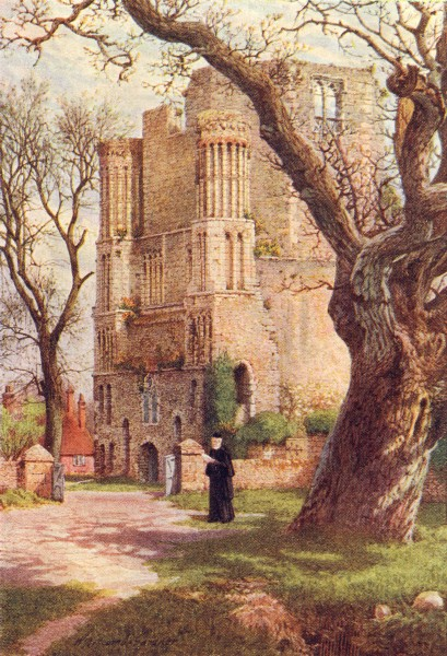 Associate Product KENT. Malling Abbey 1924 old vintage print picture