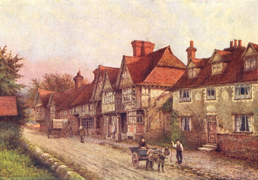 Associate Product KENT. Chiddingstone Churchyard 1924 old vintage print picture