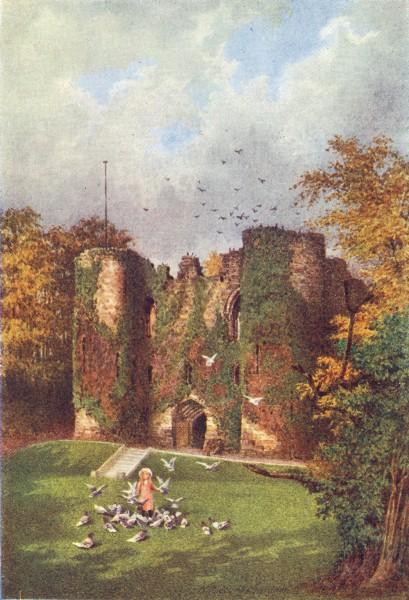 Associate Product KENT. Tonbridge Castle 1924 old vintage print picture