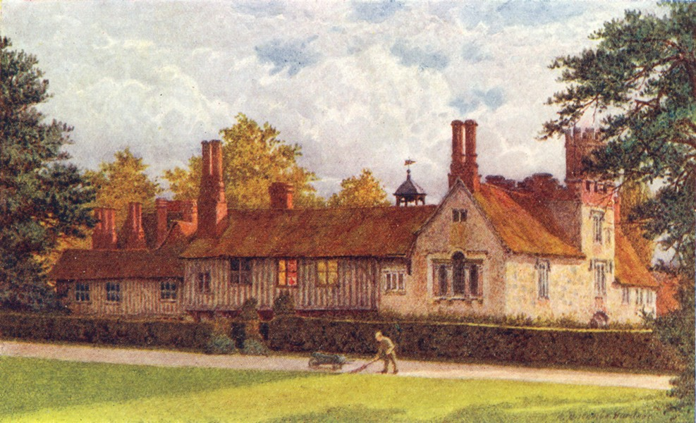 Associate Product KENT. Ightham mote Terrace 1924 old vintage print picture
