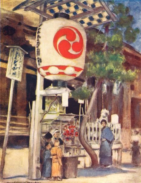 Associate Product JAPAN. Giant Lantern 1904 old antique vintage print picture
