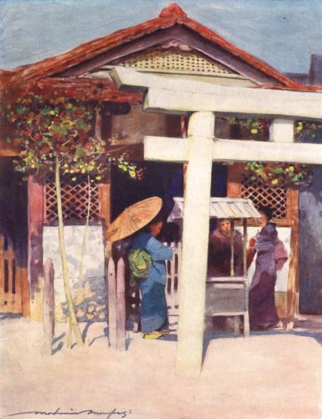 Associate Product JAPAN. A Sunny Temple 1904 old antique vintage print picture