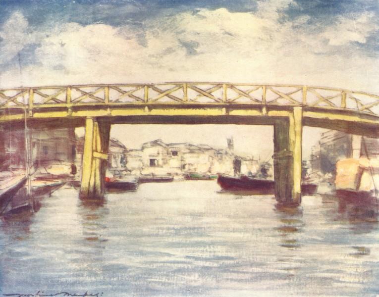 JAPAN. Lemon bridge 1904 old antique vintage print picture