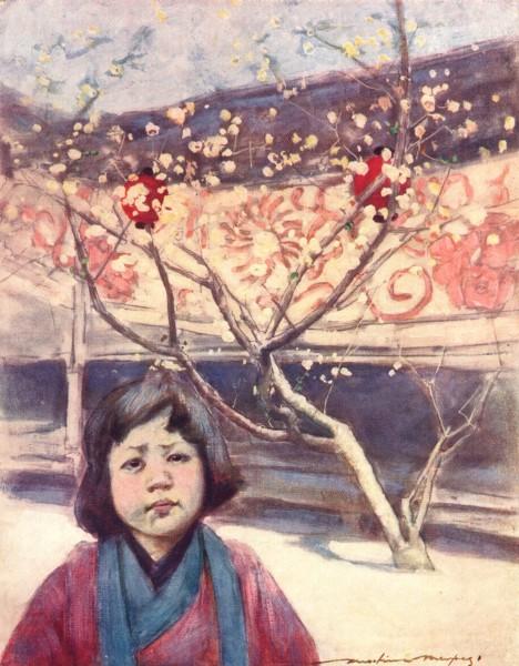 Associate Product JAPAN. A Jap in Plum-colour 1904 old antique vintage print picture