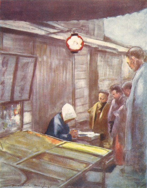 Associate Product JAPAN. Workers. A Sweet-stuff Stall 1904 old antique vintage print picture
