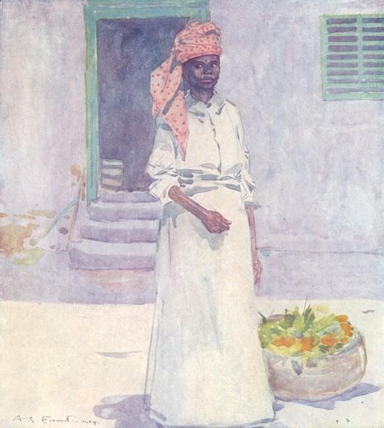 Associate Product WEST INDIES. A Market Woman, Jamaica 1905 old antique vintage print picture