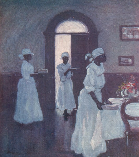 Associate Product WEST INDIES. Waiting Maids 1905 old antique vintage print picture