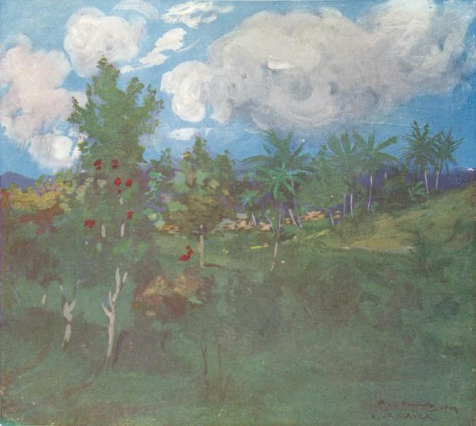 Associate Product WEST INDIES. Tropical Landscape, Castleton, Jamaica. Botanical Gardens 1905