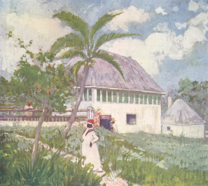 Associate Product WEST INDIES. A House near the Bog Walk, Jamaica 1905 old antique print picture