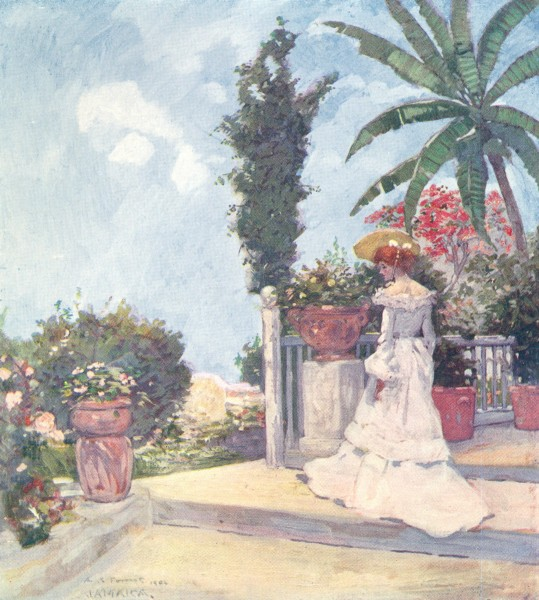 Associate Product WEST INDIES. A Garden Terrace, Jamaica 1905 old antique vintage print picture