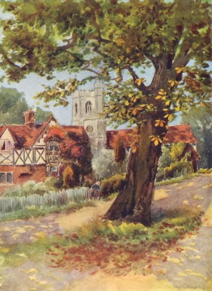 Associate Product ESSEX. South Weald 1909 old antique vintage print picture