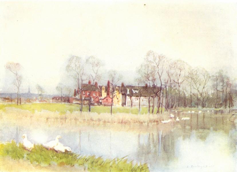 Associate Product ESSEX. Silver & Gold-Sandon Mill 1909 antique vintage print picture