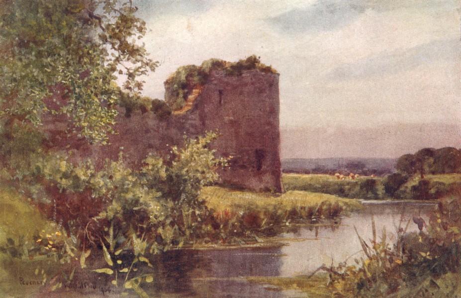Associate Product SUSSEX. Pevensey Castle 1906 old antique vintage print picture