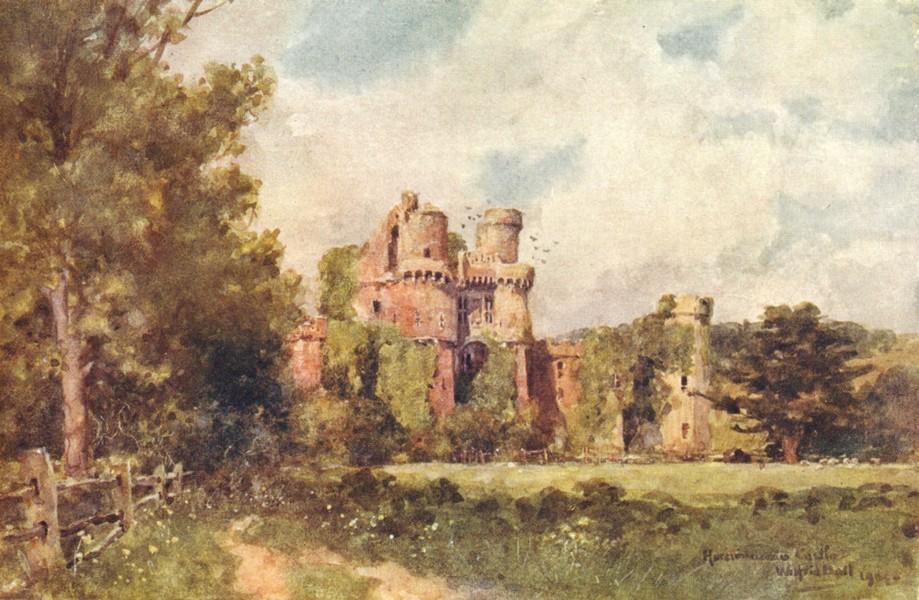 Associate Product SUSSEX. Hurstmonceaux Castle 1906 old antique vintage print picture