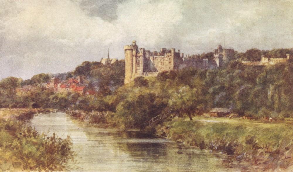 Associate Product SUSSEX. Arundel Castle 1906 old antique vintage print picture