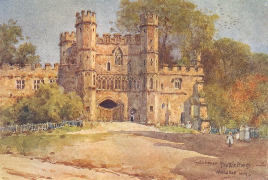 Associate Product SUSSEX. Gatehouse, Battle Abbey 1906 old antique vintage print picture