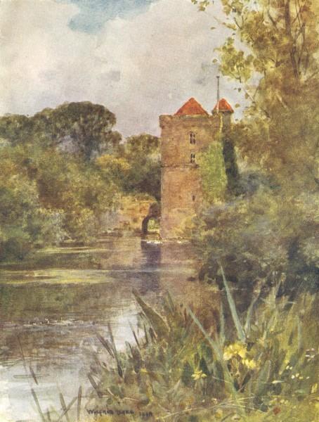 Associate Product SURREY. Mickleham Priory 1906 old antique vintage print picture