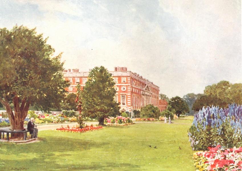 Associate Product LONDON. Hampton Court 1912 old antique vintage print picture