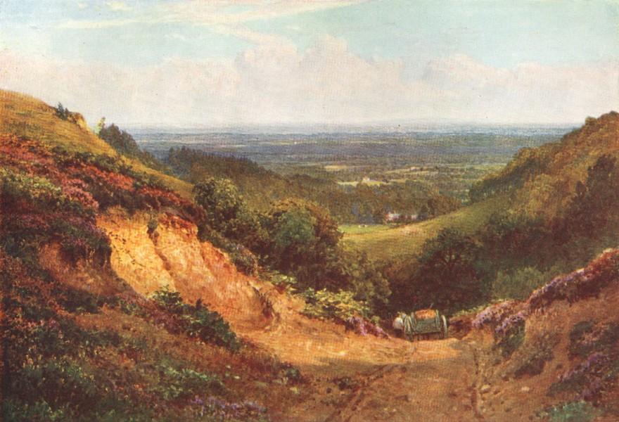 Associate Product SURREY. Pilgrims way. Gravel Pit, above Gomshall 1912 old antique print