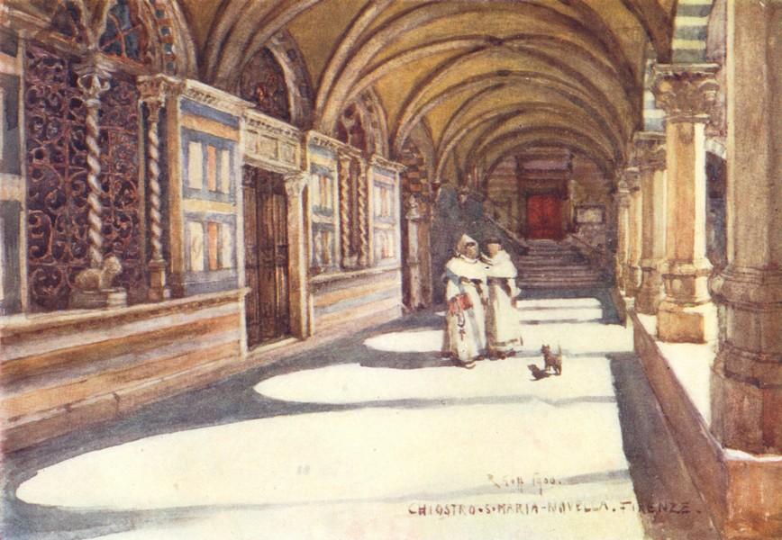 Associate Product FLORENCE FIRENZE. The Green Cloister of Santa Maria Novella. Italy 1905 print