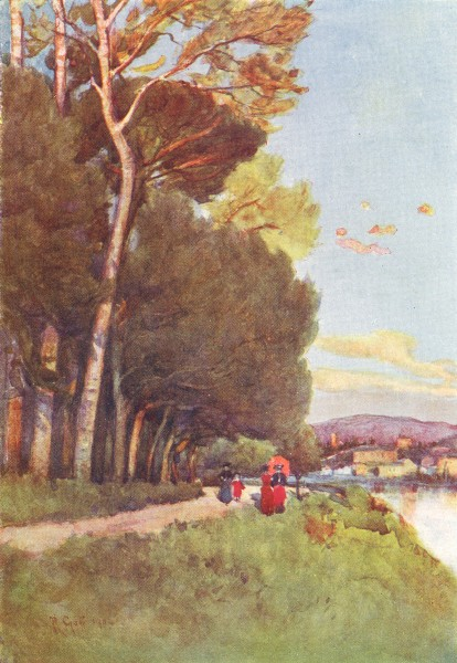 Associate Product FLORENCE FIRENZE. Along the river in the Cascine, towards San Miniato 1905