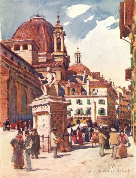 Associate Product FLORENCE FIRENZE. Piazza S. Lorenzo. Statue of Giovanni Delle Bande Nere 1905