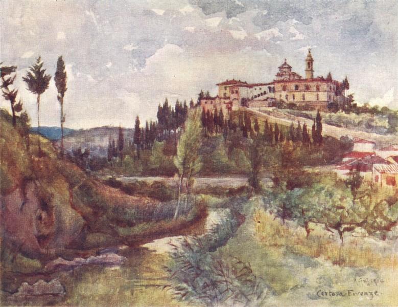 Associate Product FLORENCE FIRENZE. Val D' Ema Cistercia Convent, beyond the Porta Romana 1905