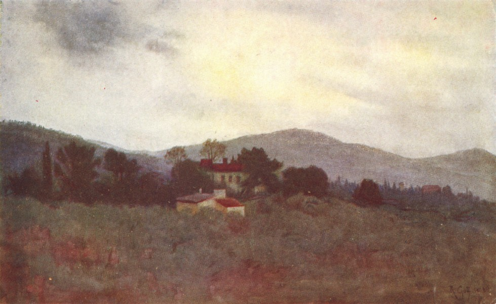 Associate Product TUSCANY TOSCANA. Tuscan Olive Gardens & the hills of the Casentino 1905 print