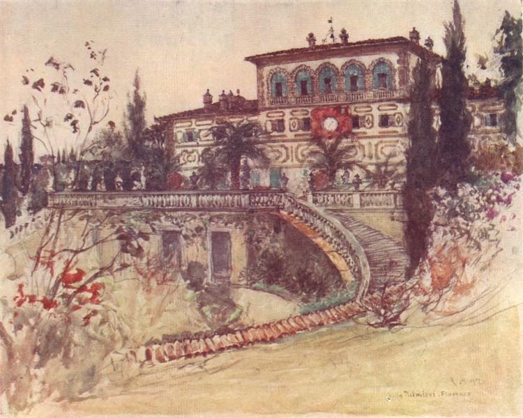 Associate Product TUSCANY TOSCANA. Villa Palmieri 1905 old antique vintage print picture
