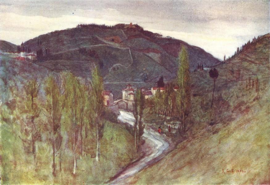 Associate Product TUSCANY. Mugnone valley, below Fiesole. Monte Rinaldini. Ponte Alla Badia 1905
