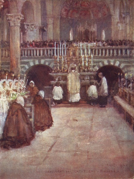 Associate Product FIESOLE. First communion of the Children, in the Cathedral. Italy 1905 print