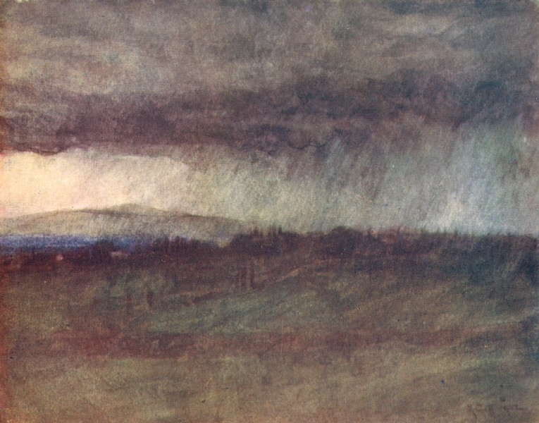 Associate Product TUSCANY TOSCANA. A Spring Storm sweeping over the Valley of the Arno 1905