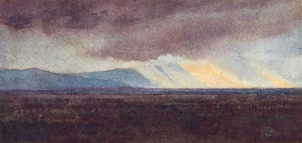 Associate Product TUSCANY TOSCANA. The Plain of Arno from Bellosguardo, looking West 1905 print
