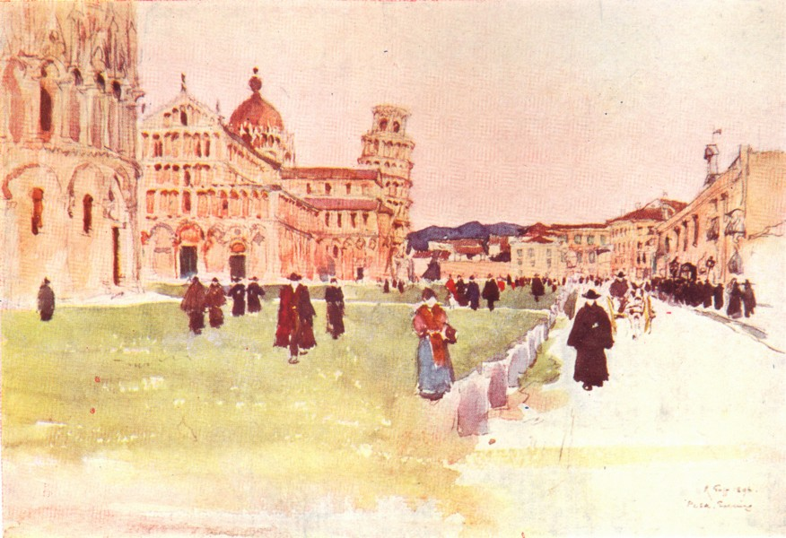 Associate Product PISA. The Piazza del Duomo. Italy 1905 old antique vintage print picture