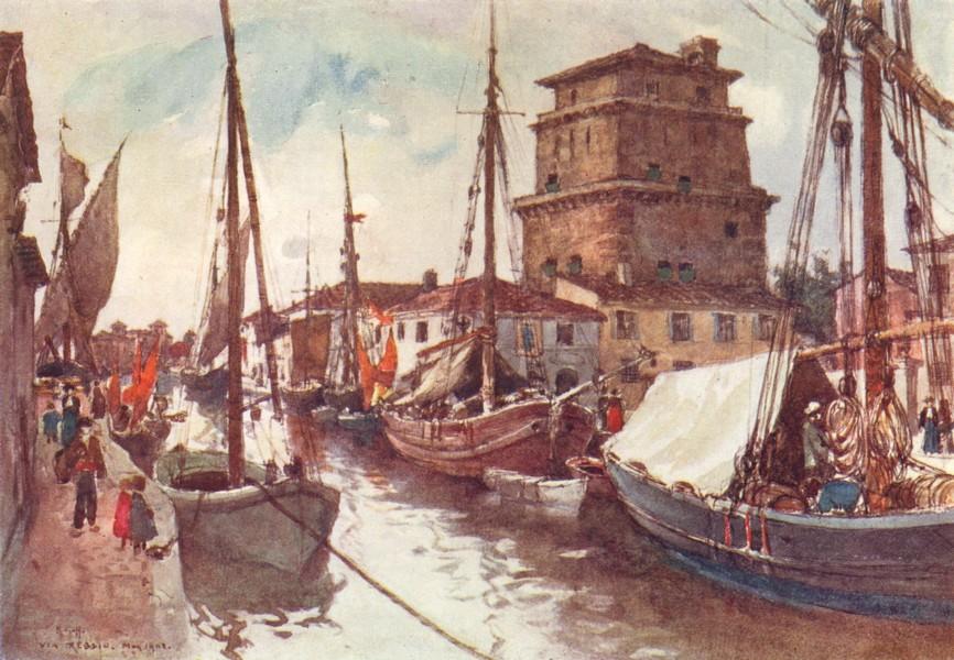 Associate Product VIAREGGIO. The Harbour. Italy 1905 old antique vintage print picture