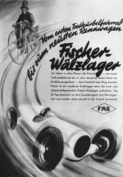 Associate Product GERMANY. Fischer-Walzlager 1936 old vintage print picture