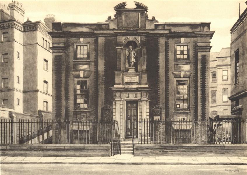 LONDON. Blue Coat School, Caxton Street, SW1. By Phyllis Dimond 1946 old print