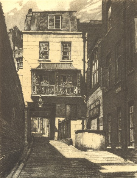 Associate Product LONDON. The Watch House, Strand Lane, WC2. By Edward Walker 1946 old print