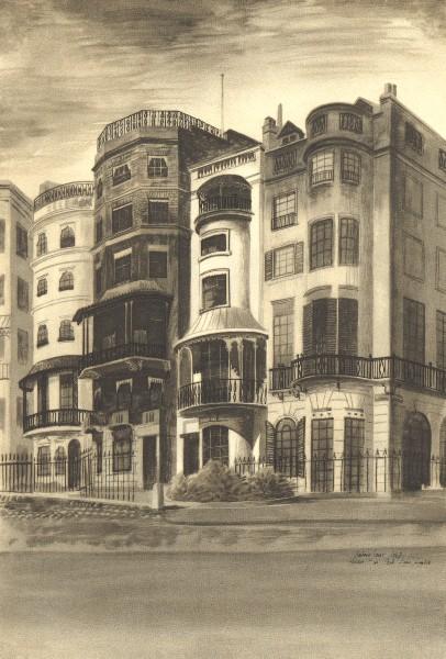 Associate Product LONDON. 93 Park Lane, W1. By Barbara Jones 1946 old vintage print picture