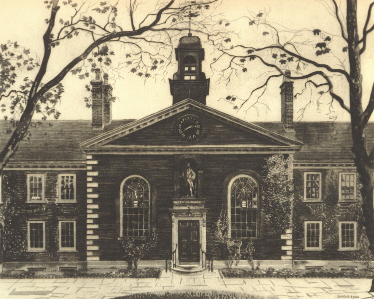 Associate Product LONDON. Geffrye Museum, Kingsland Road, E2. By Phyllis Dimond 1946 old print