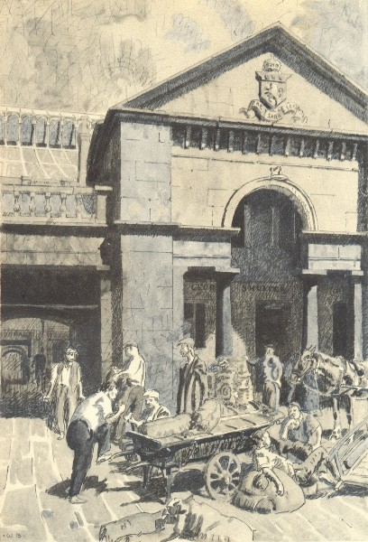 Associate Product LONDON. Covent Garden Market, WC2. By Walter Bayes 1946 old vintage print
