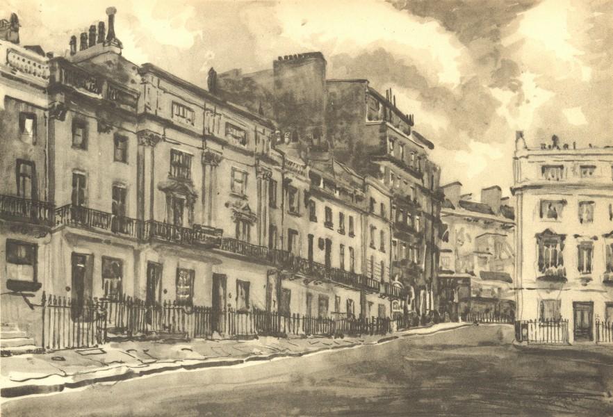 Associate Product LONDON. Victoria Square, SW1. By Caroline M Ediss 1946 old vintage print