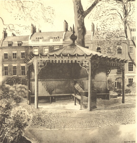 Associate Product LONDON. The Shelter, Bedford Square, WC1. By Phyllis Dimond 1946 old print