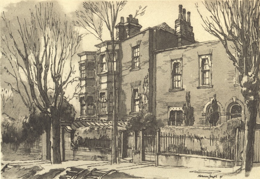 Associate Product LONDON. 2 Lower Terrace, Hampstead, NW3. By Norman Janes 1946 old print
