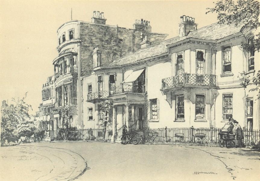 LONDON. 158 Richmond Hill. By JS Sanderson-Wells 1946 old vintage print