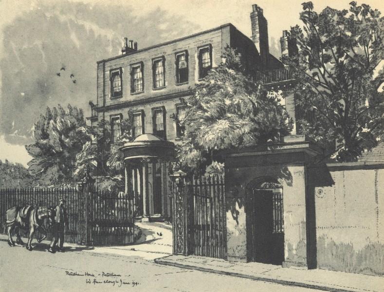 Associate Product PETERSHAM. Petersham House. London. By W Fairclough 1946 old vintage print