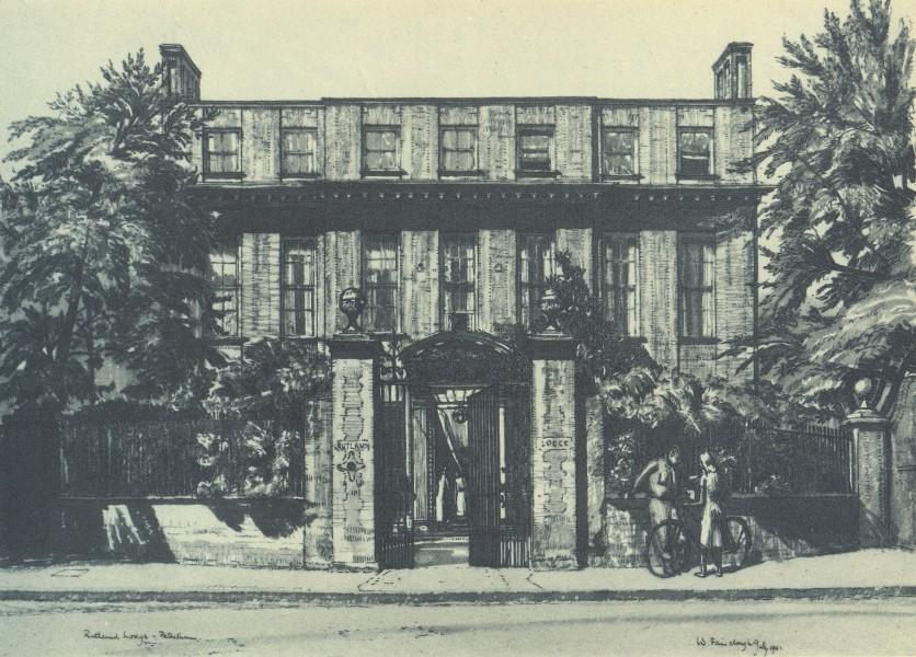 Associate Product PETERSHAM. Rutland Lodge. London. By W Fairclough 1946 old vintage print
