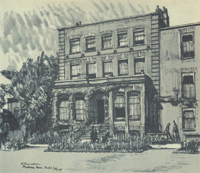Associate Product PETERSHAM. Montrose House - the Back. London. By W Fairclough 1946 old print