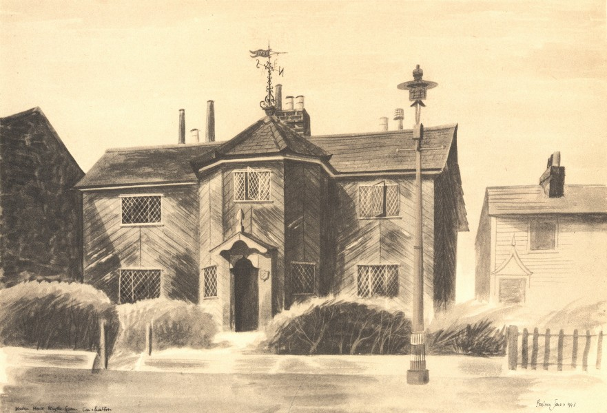 Associate Product WRYTHE GREEN. Wooden House. Surrey. By Barbara Jones 1946 old vintage print