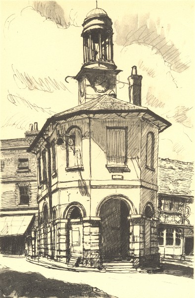 Associate Product GODALMING. The Town Hall. Surrey. By GW Hooper 1946 old vintage print picture